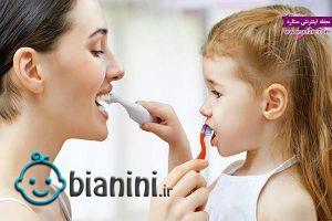 عکس آموزش مسواک زدن به کودکان، سلامت دهان، تربیت کودک