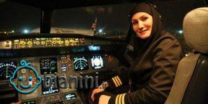 اولین مهندس پرواز زن در جهان!