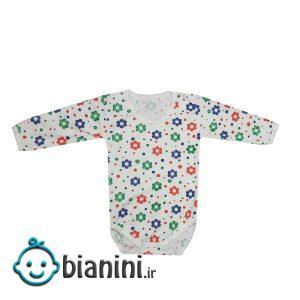 بادی آستین بلند نوزادی مدل گل کد 11