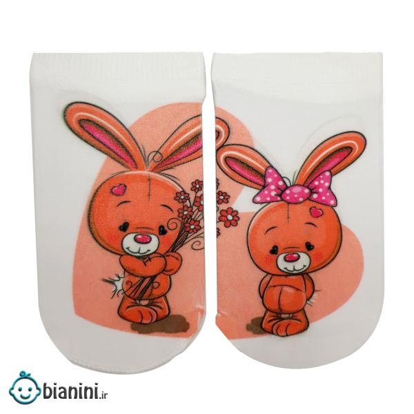 جوراب دخترانه مدل خرگوش کد mg142