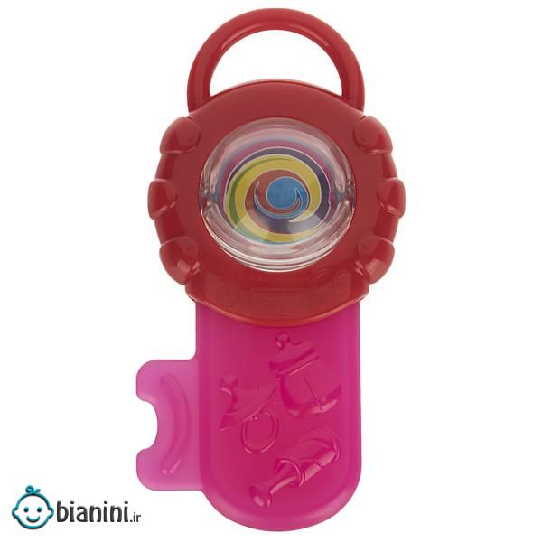 دندان گیر پلی گو مدل Baby Teething Key Pink
