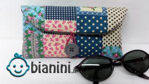 روش دوخت قاب عینک رنگارنگ با پارچههای اضافی