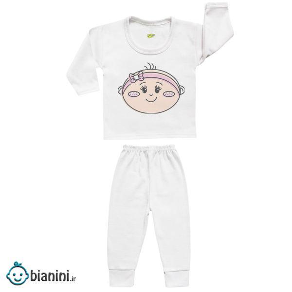 ست تی شرت و شلوار نوزادی کارانس مدل SBS-3101