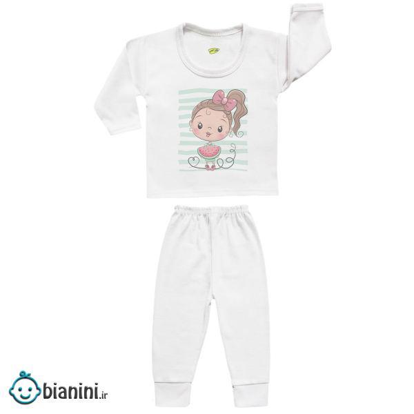ست تی شرت و شلوار نوزادی کارانس مدل SBS-3134
