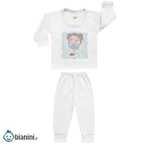 ست تی شرت و شلوار نوزادی کارانس مدل SBS-3136