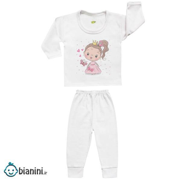 ست تی شرت و شلوار نوزادی کارانس مدل SBS-3142
