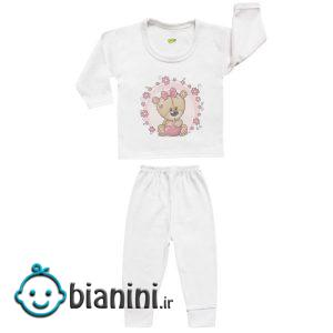 ست تی شرت و شلوار نوزادی کارانس مدل SBS-3257