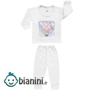 ست تی شرت و شلوار نوزادی کارانس مدل SBS-3259