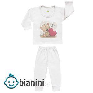 ست تی شرت و شلوار نوزادی کارانس مدل SBS-3260