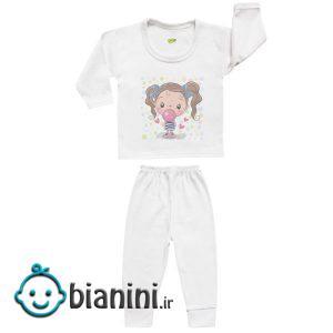 ست تی شرت و شلوار نوزادی کارانس مدل SBS-3261
