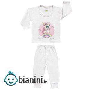 ست تی شرت و شلوار نوزادی کارانس مدل SBS-3264
