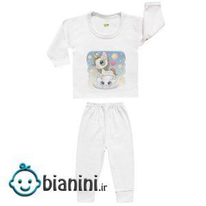 ست تی شرت و شلوار نوزادی کارانس مدل SBS-3265