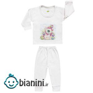 ست تی شرت و شلوار نوزادی کارانس مدل SBS-3266