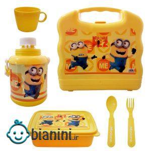 ظرف غذای 6 تکه کودک مدل مینیون کد KL2345