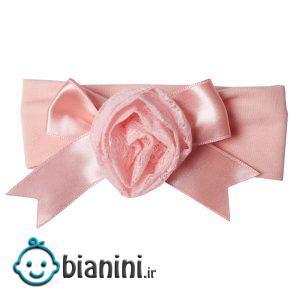 هدبند نوزادی کارامل مدل گل کد 01