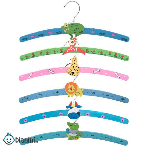 چوب لباسی نوزاد مدل happy animals2 مجموعه 6 عددی