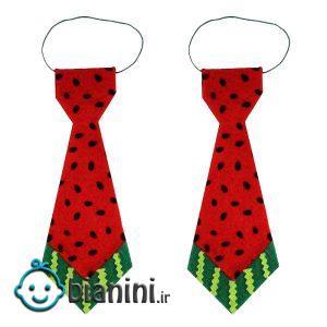 کراوات پسرانه طرح هندوانه شب یلدا مدل 5001RT بسته 2 عددی