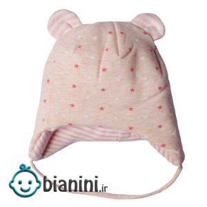کلاه نوزادی دخترانه طرح ستاره کد 001