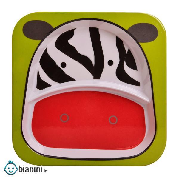 بشقاب کودک مهروز طرح ZEBRA کد SH-0098