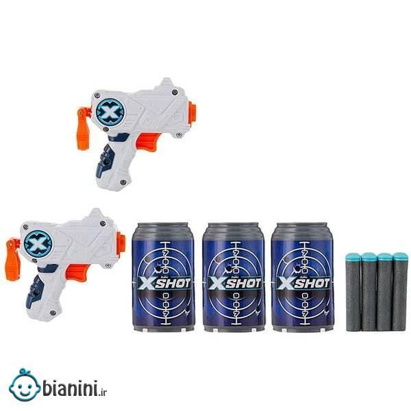 تفنگ بازی ایکس شات مدل micro کد 2020 مجموعه 2 عددی