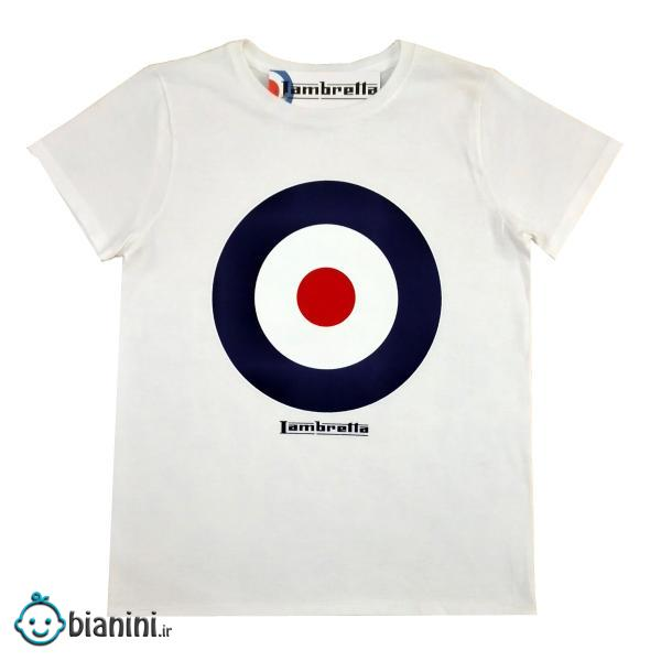 تی شرت آستین کوتاه بچگانه کد 12 رنگ سفید