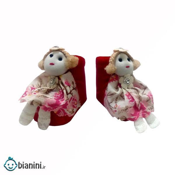 جوراب نوزادی دخترانه مدل عروسکی کد 0030