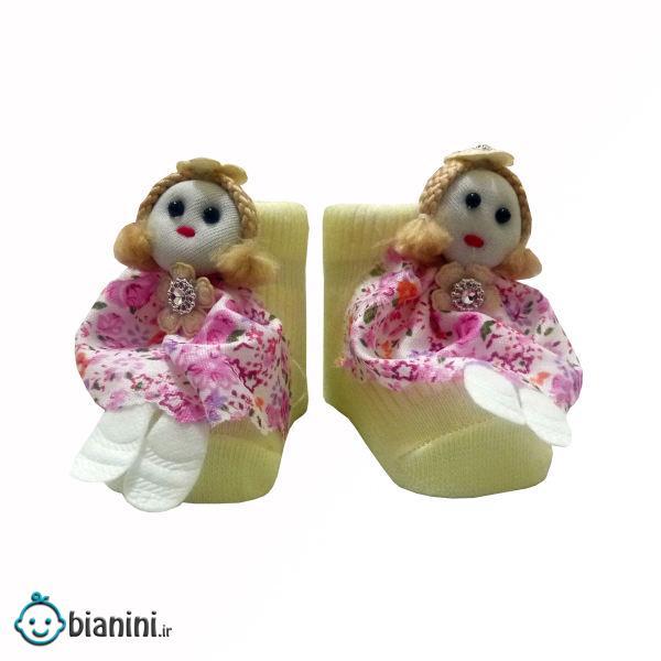 جوراب نوزادی مدل عروسکی کد 0020