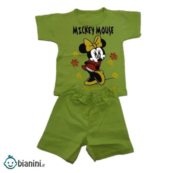 ست تی شرت و شلوارک بچگانه مدل میکی موس کد 74