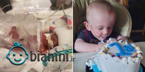 نارس ترین نوزاد دنیا یک ساله شد