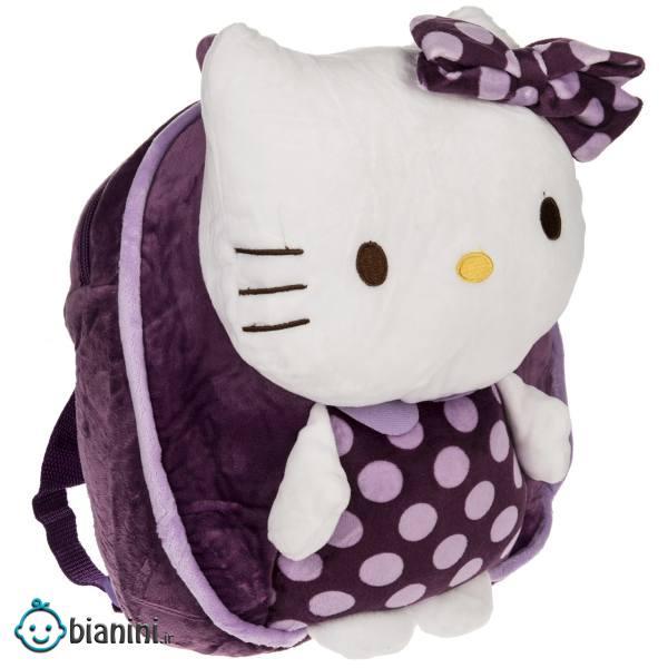 کوله پشتی بچه گانه مدل Hello Kitty Purple