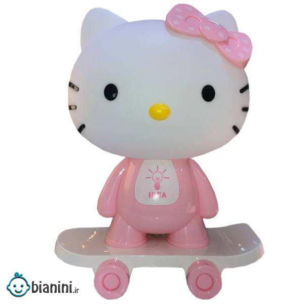 چراغ خواب کودک مدل Skating Hello Kitty