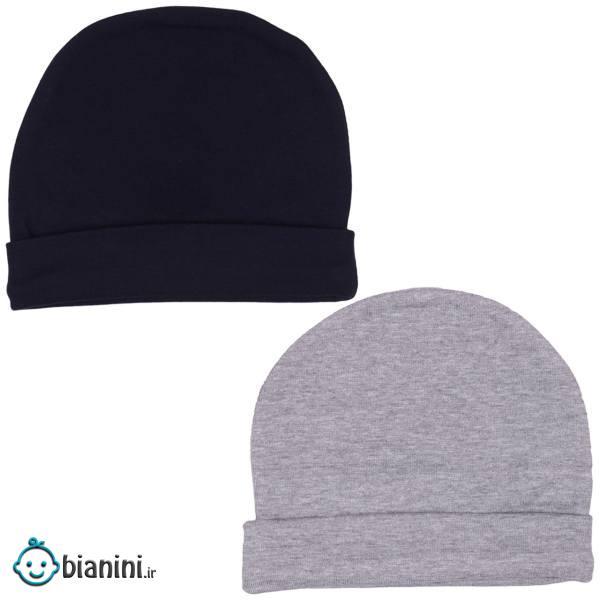 کلاه گرد نوزادی لاکی بیبی مدل 0336 - بسته 2 عددی