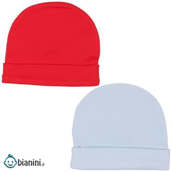 کلاه گرد نوزادی لاکی بیبی مدل 06 - بسته 2 عددی