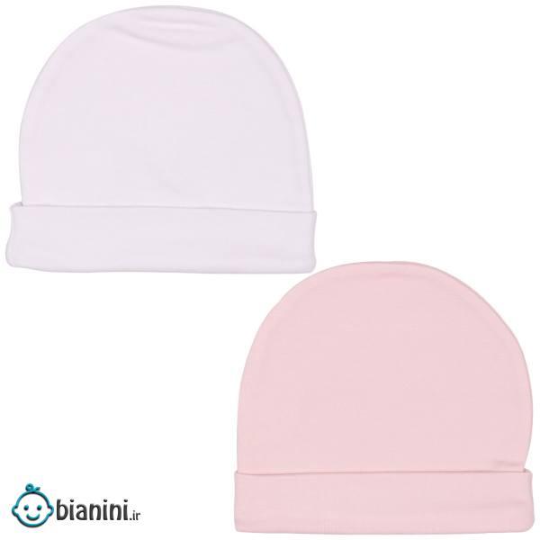 کلاه گرد نوزادی لاکی بیبی مدل 336 - بسته 2 عددی