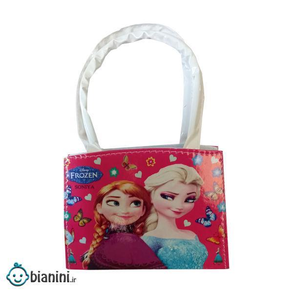 کیف دوشی دخترانه مدل برفی کد F2