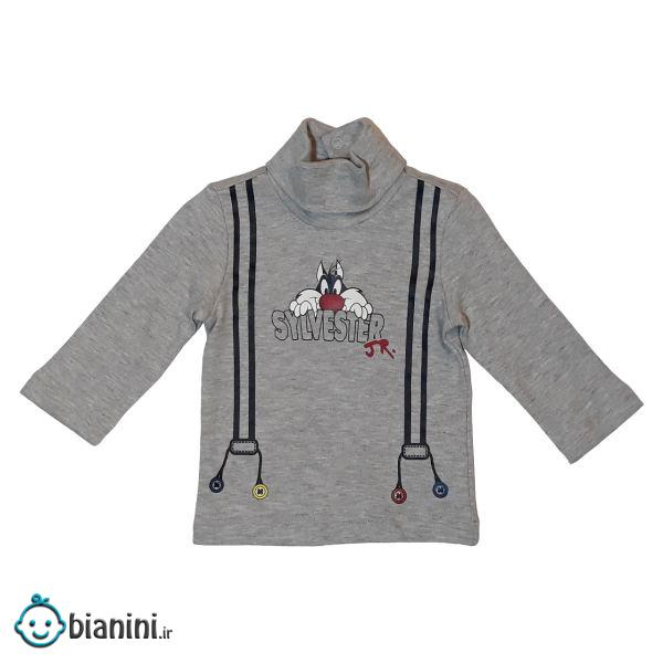تی شرت آستین بلند نوزادی اوریجینال مارینز کد 1008