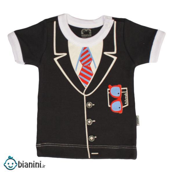 تی شرت آستین کوتاه نوزادی آدمک مدل جنتلمن