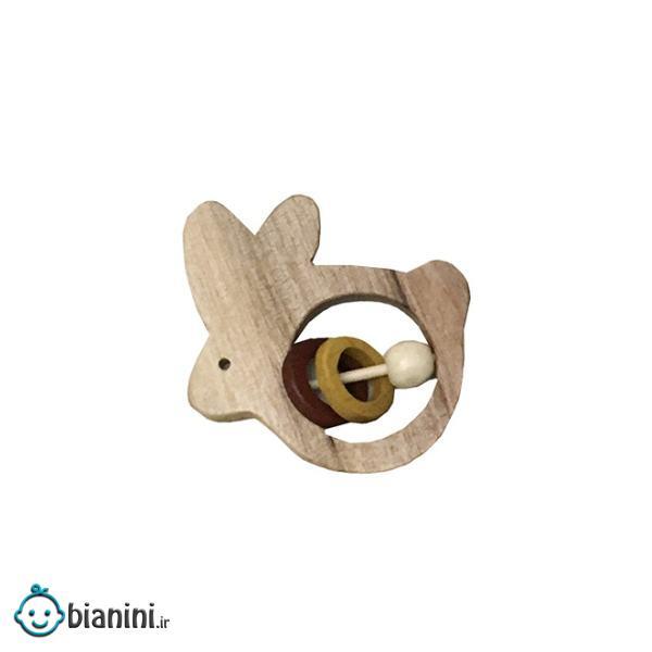 جغجغه مدل چوبی طرح خرگوش کد 30
