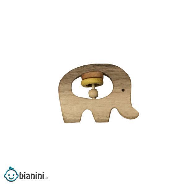 جغجغه مدل چوبی طرحفیل کد 4