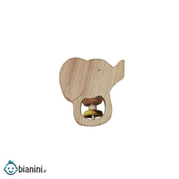 جغجغه مدل چوبی طرح فیل کد 80