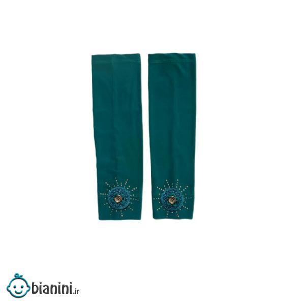 ساق دست دخترانه ثنا مدل بیبی رنگ سبز آبی