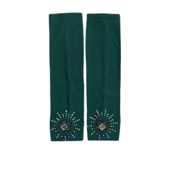 ساق دست  دخترانه مدل بیبی رنگ سبز یشمی