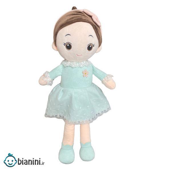 عروسک طرح دختر تل دار مدل 15830 ارتفاع ۵۰ سانتی متر