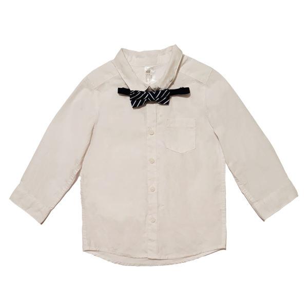 پیراهن نوزادی اچ اند ام کد 1005به همراه پاپیون