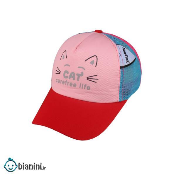 کلاه کپ بچگانه طرح گربه کد KOB-114