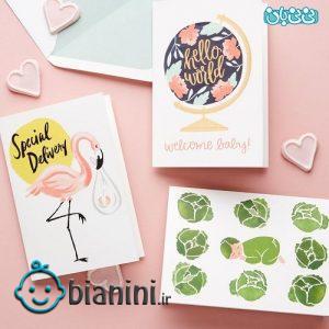 کارت پستال موزیکال تولد نوزاد -کارت پستال تولد نوزاد، طرحها و پیامهای خلاقانه