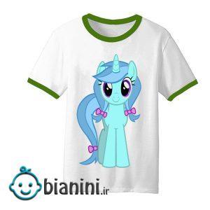 تی شرت آستین کوتاه بچگانه مدل اسب تک شاخ کد TDb4212