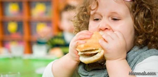 علت چاقی در کودکان