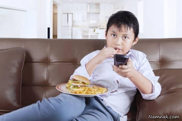 دلیل چاقی کودکان