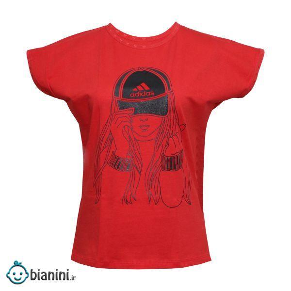 تی شرت دخترانه مدل Girl Hat رنگ قرمز